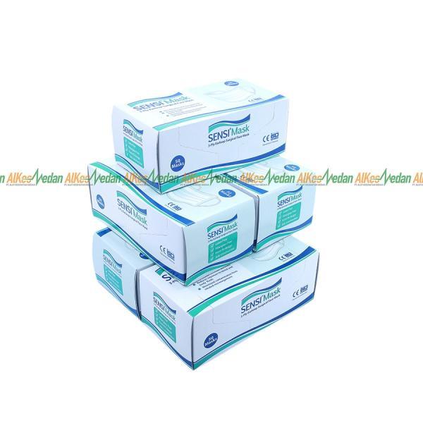 MASKER EARLOOP GREEN SENSI 50'S/BOX